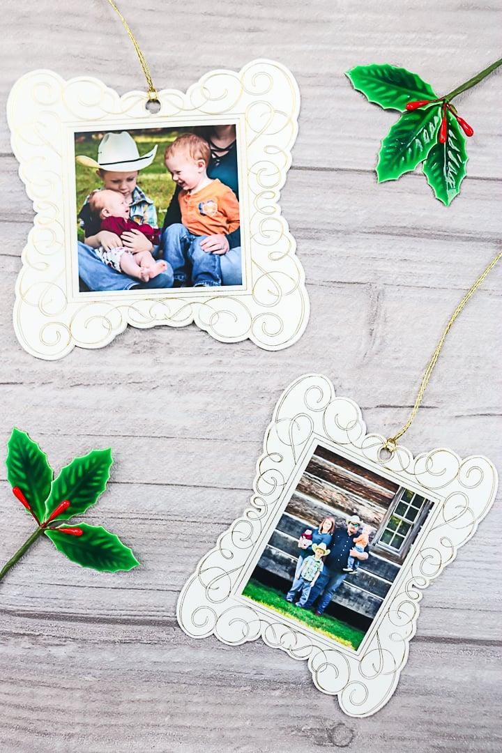 cricut foil on photo paper