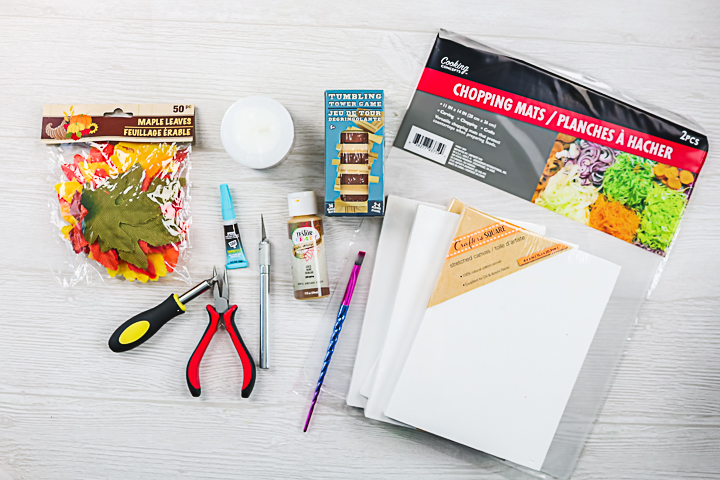 dollar store supplies to make a lantern