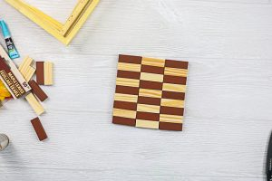 using a mini tumbling towers game for crafts
