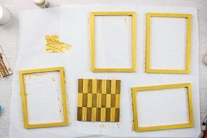 adding testors gold paint to wood