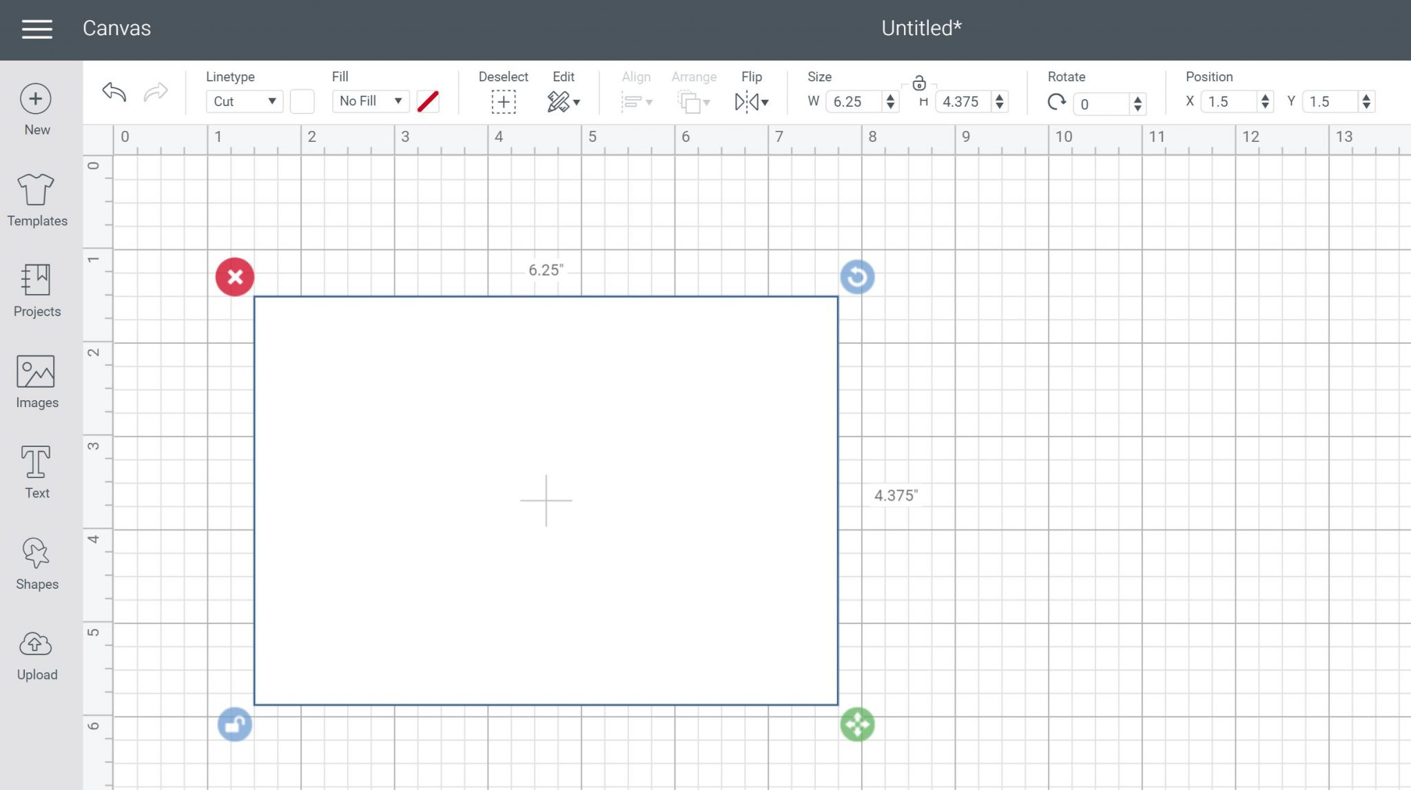 draw rectangle for envelope