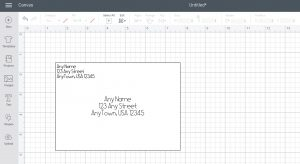 envelope with address in cricut design space