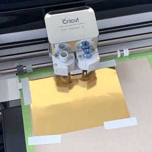 using foil transfer tool in a cricut machine