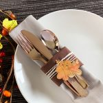 Quick Fall Place Setting with Foil Accents