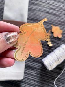 leaf shape cut with a cricut