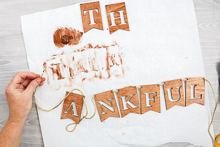 making a wood letter banner