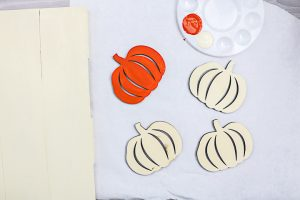 painting wood pumpkins