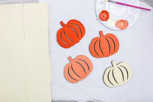 ombre paint effect on pumpkins