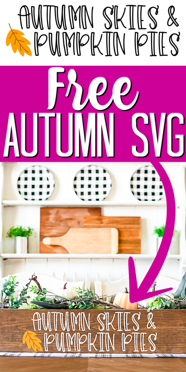 Get this free autumn SVG for your Cricut machine and use it to make a ton of different projects! #autumn #fall #fallsvg #autumnsvg