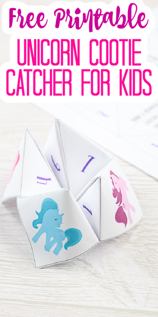 Grab this free printable unicorn cootie catcher for your kids! They will love playing with this fortune teller for hours! #unicorn #cootiecatcher #printable #freeprintable