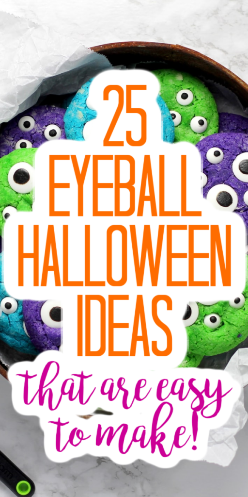 These Halloween eyeball decorations are perfect for a Halloween party or just to add some special fright to your home celebrations! #halloween #halloweennight #eyeballs #halloweencrafts