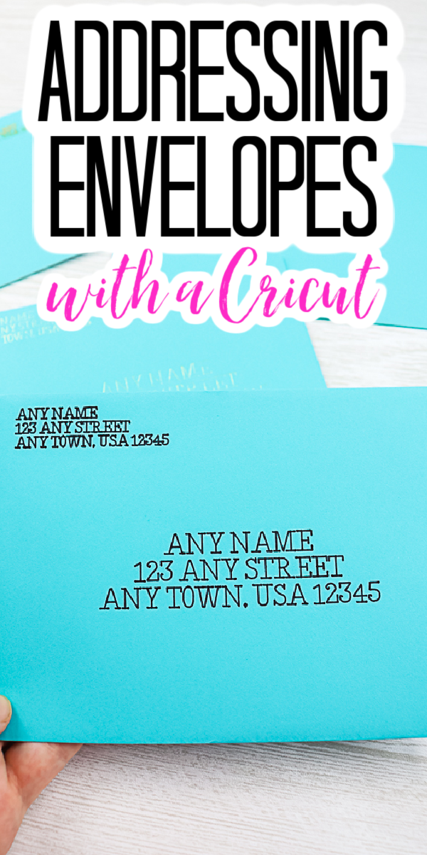 how to address envelopes with a cricut