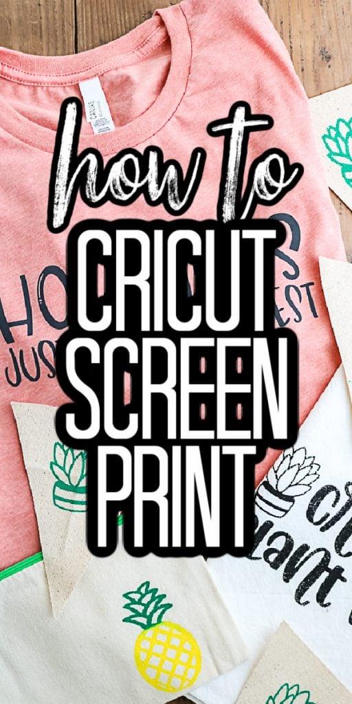how to cricut screen print