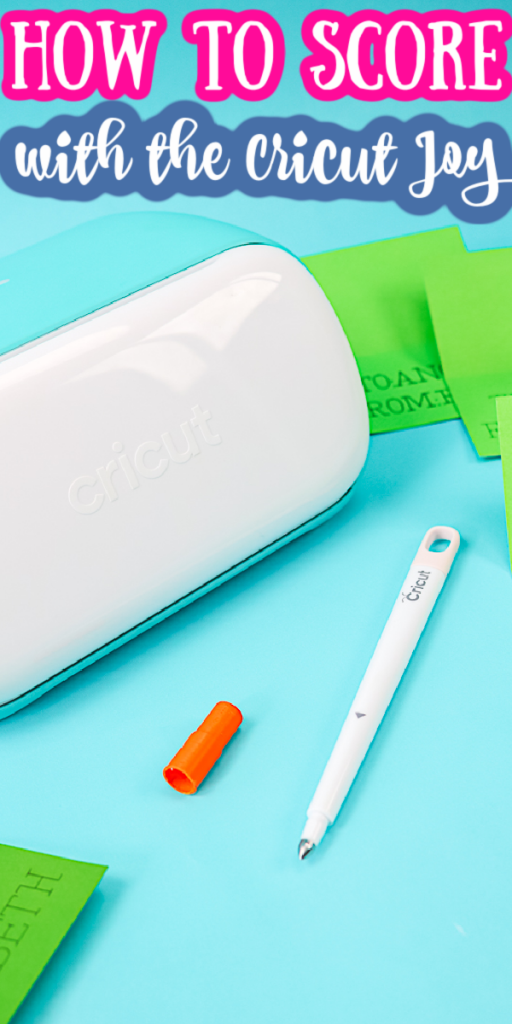 Learn how to score with the Cricut Joy for your paper crafts! Great technique for using a scoring stylus in the Joy for your crafts! #scoring #cricut #cricutmade #cricutjoy #papercrafts