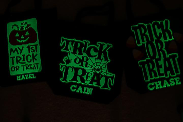 glow in the dark htv on bag