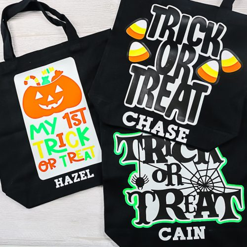 halloween bags with names