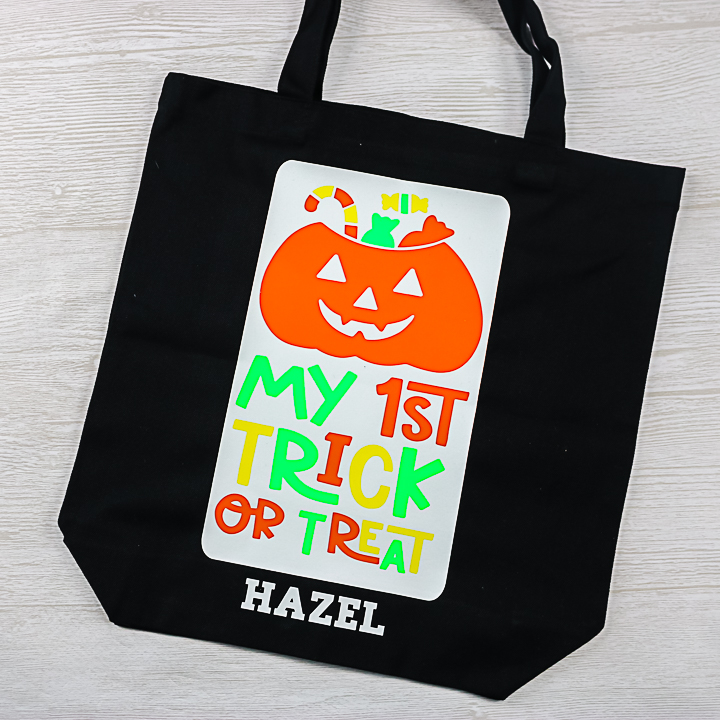 my 1st trick or treat bag