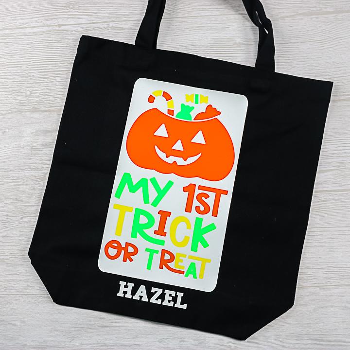 my 1st trick or treat bag