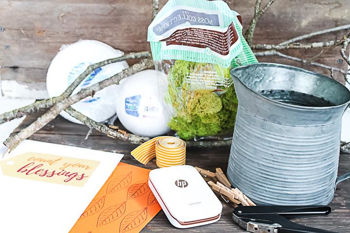 supplies to make a thankful tree