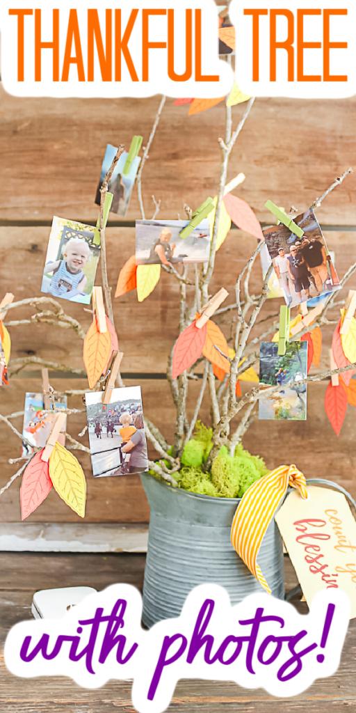 Idée d'arbre reconnaissant avec des photos