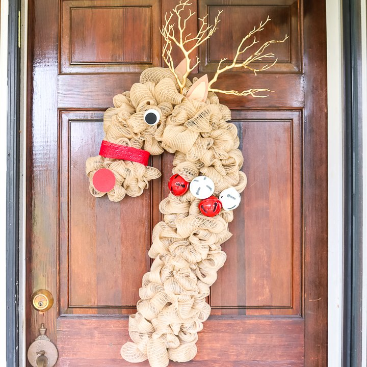 christmas reindeer wreath