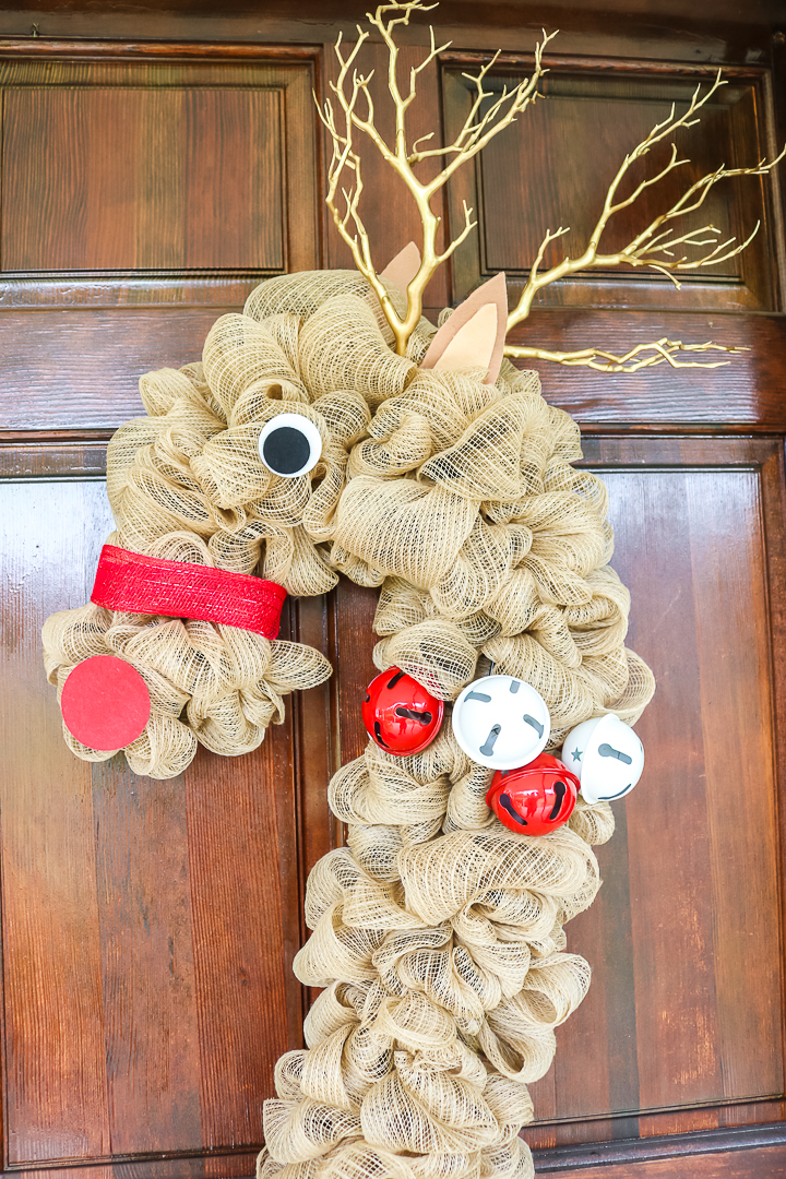 rudolph wreath idea