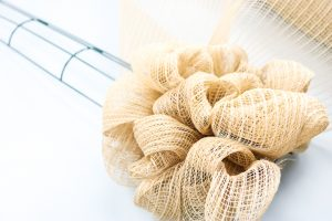 bubble deco mesh wreath