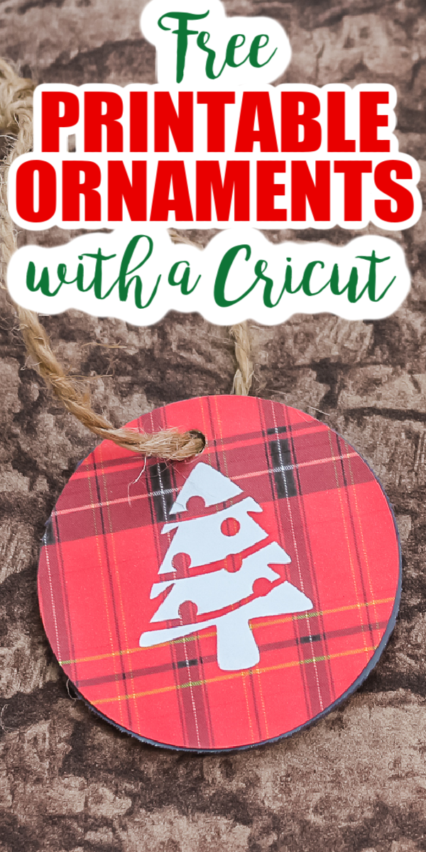 Make these free printable Christmas ornaments for your rustic tree!
