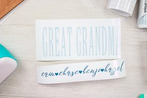 pieces for making a grandparents sign
