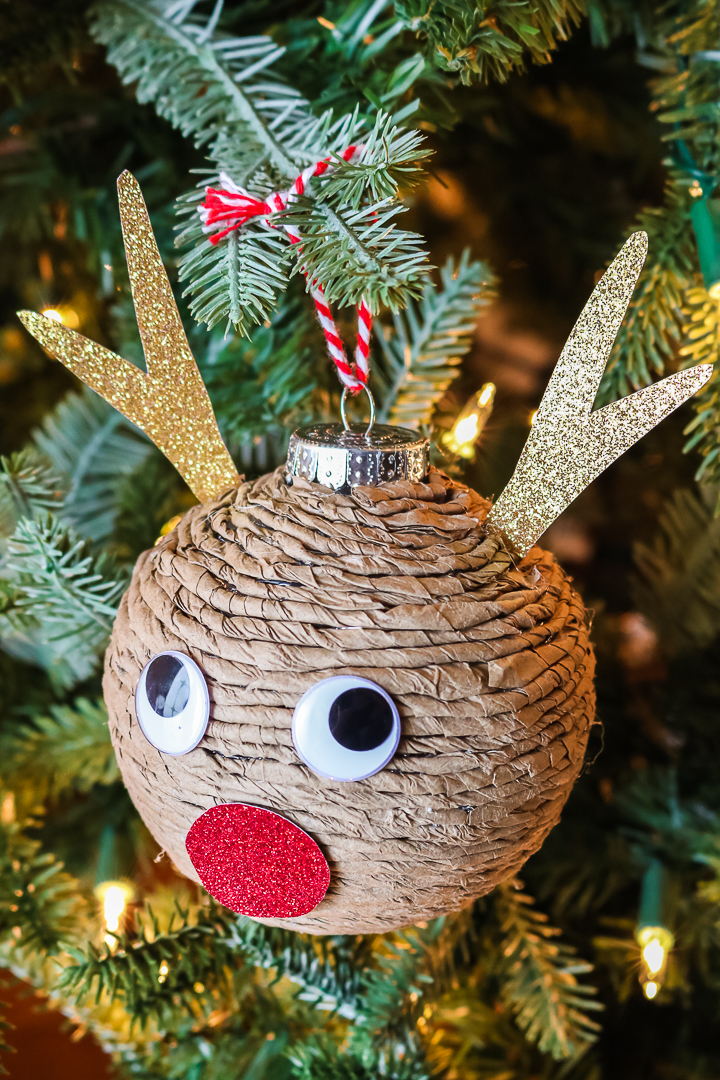 how to make a paper covered ornament