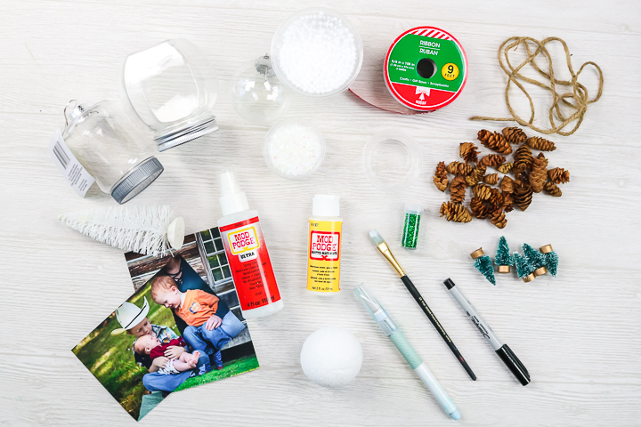 dollar store supplies for making christmas ornaments