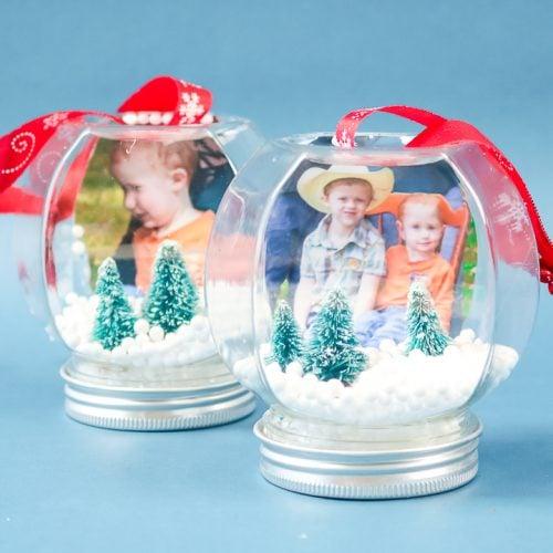 photo snow globe ornament
