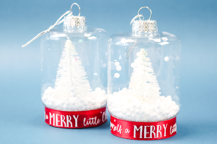 mini mason jar snow globe
