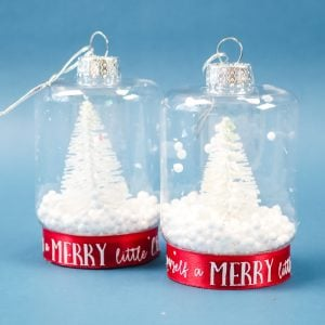 how to make a snow globe christmas ornament
