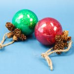 decoupage glitter ornaments