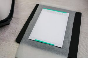 metal sublimation blank on a mat