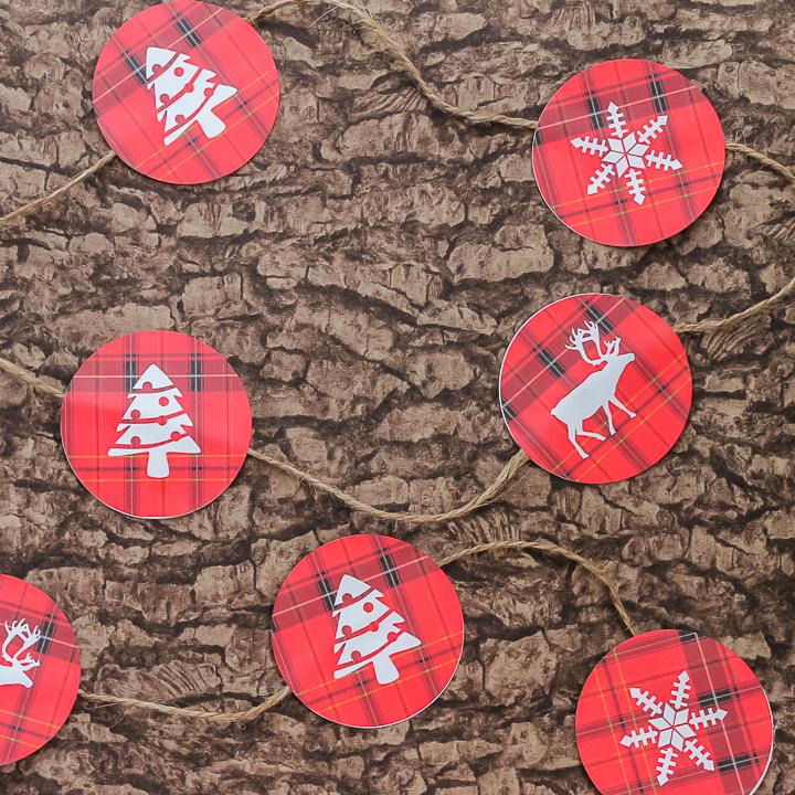 free printable holiday garland