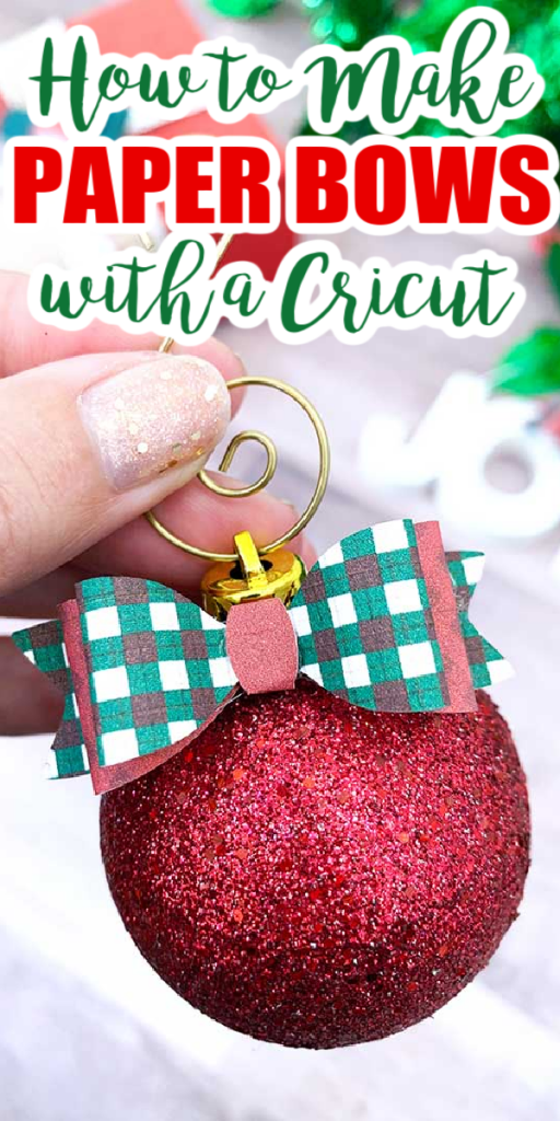 Learn how to make paper bows with a Cricut machine