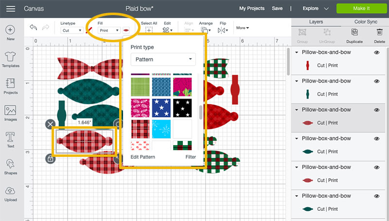 patterns in Cricut Design Space
