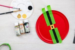 painting a black santa belt