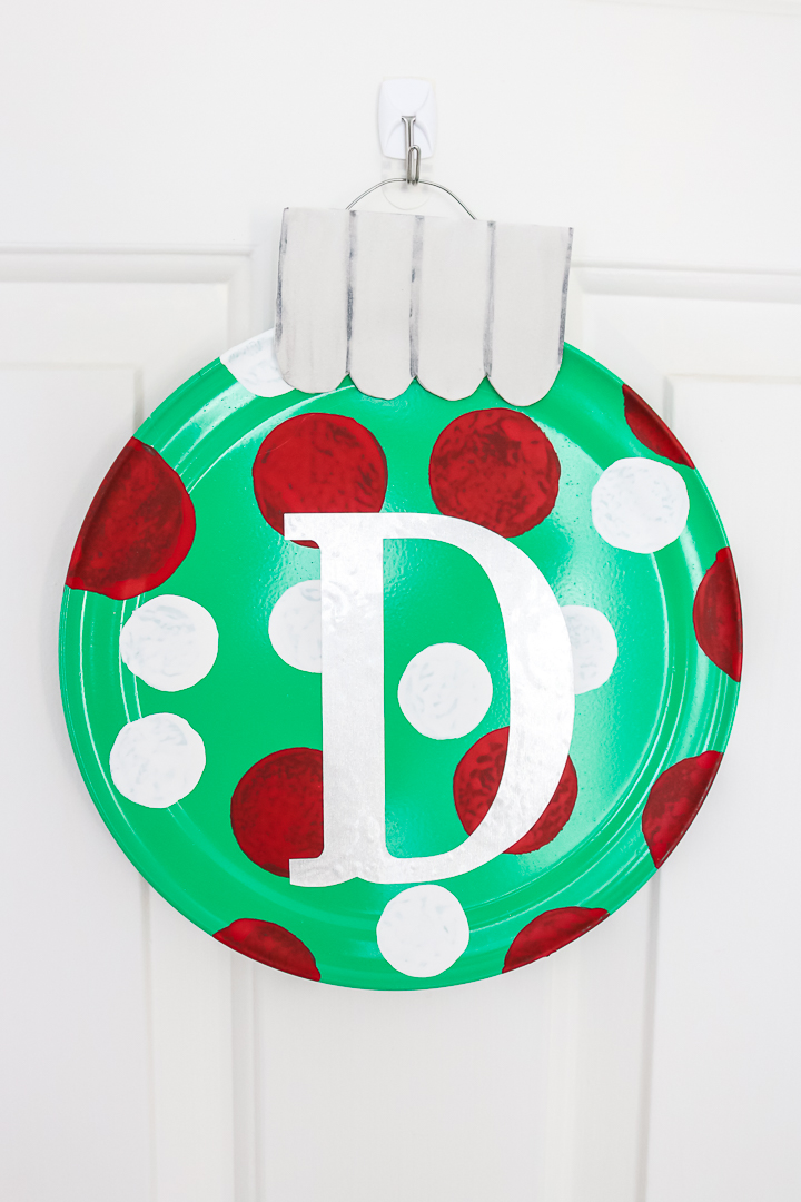 monogram pizza pan wreaths
