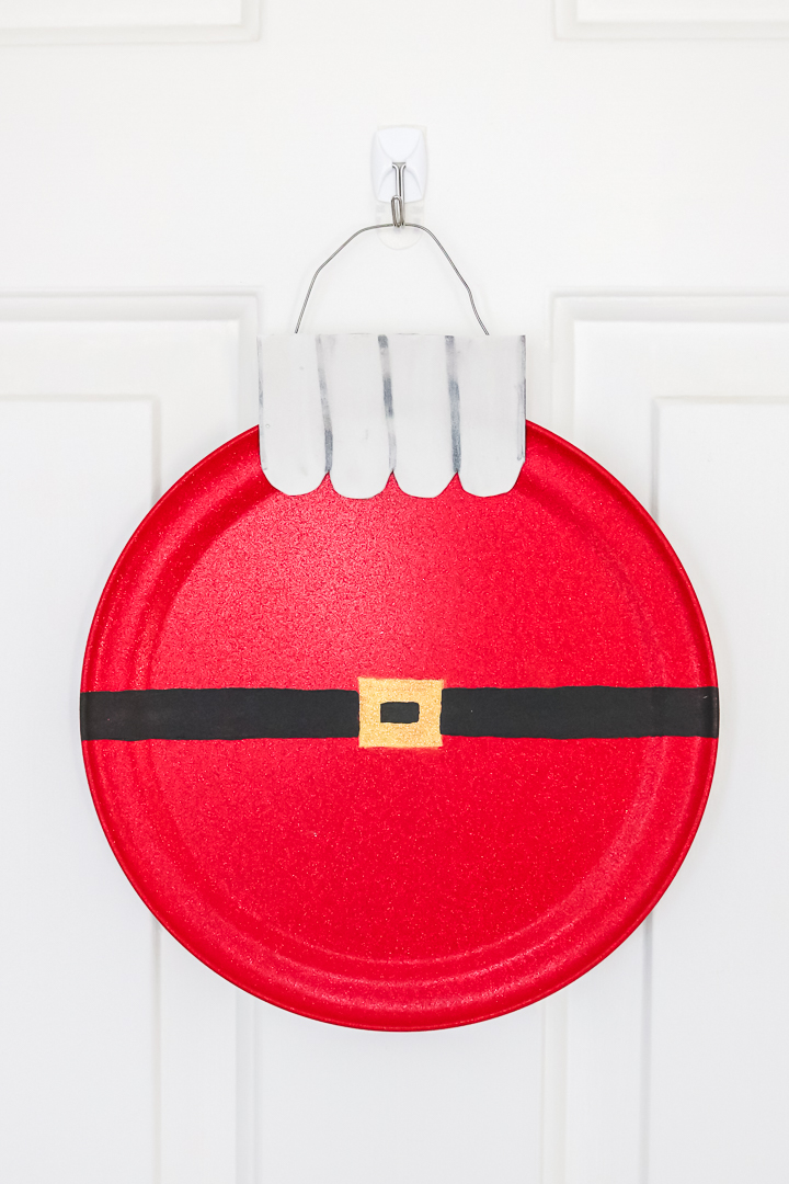santa pizza pan wreaths
