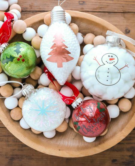 vinyl christmas ornaments