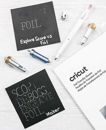 using cricut tools for foiling