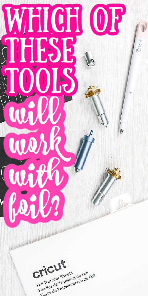 So which tools will transfer Cricut foil? Can you use a scoring stylus? What about the deboss tip? We are testing them all! #cricut #cricutmade #cricutcreated