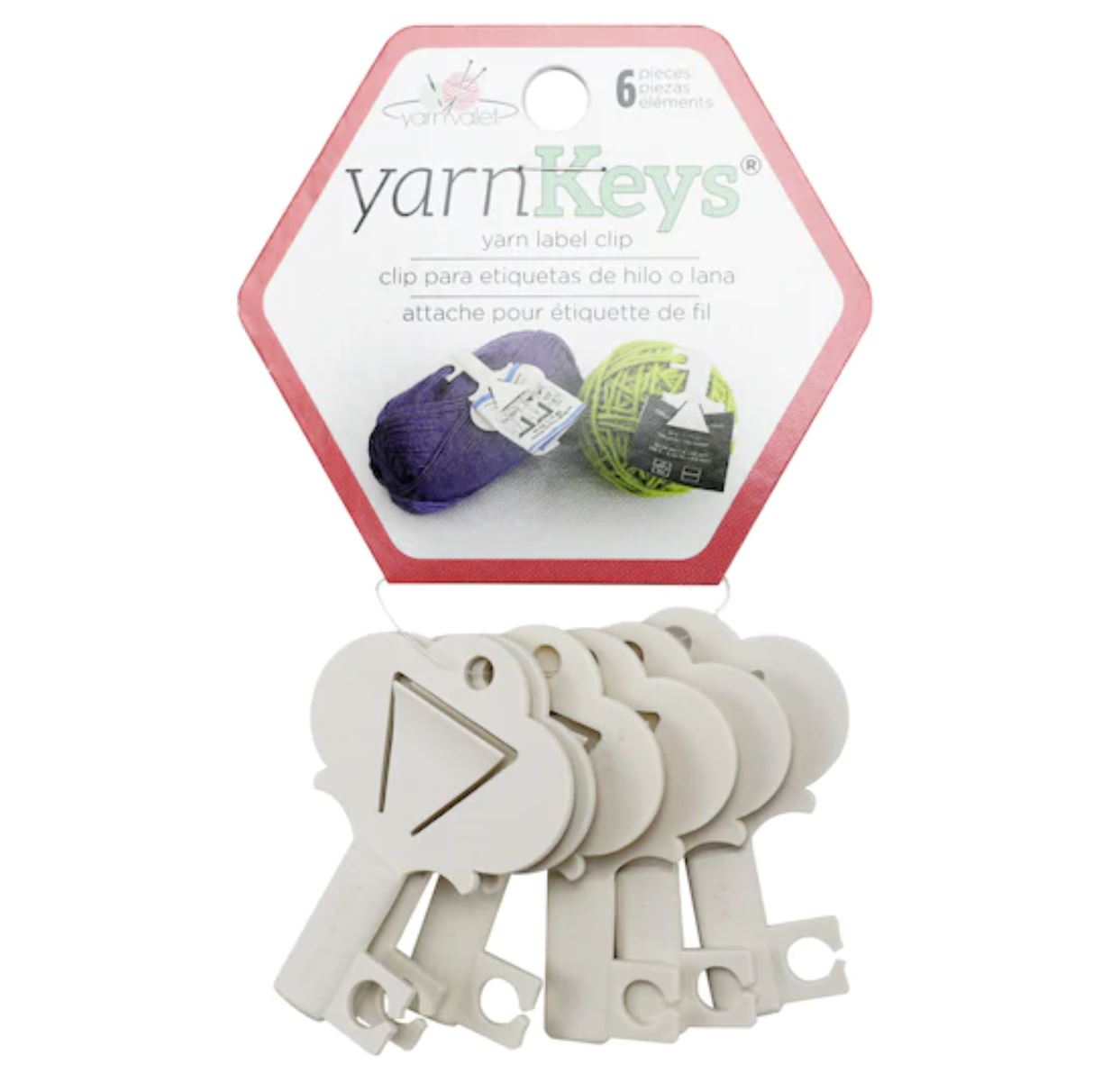 yarn label clips