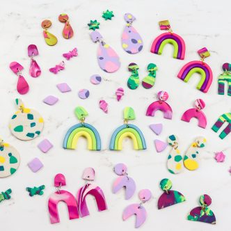 how to make clay earrings