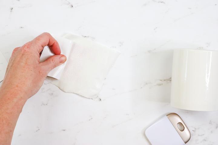 applying transfer tape to heat reactive vinyl