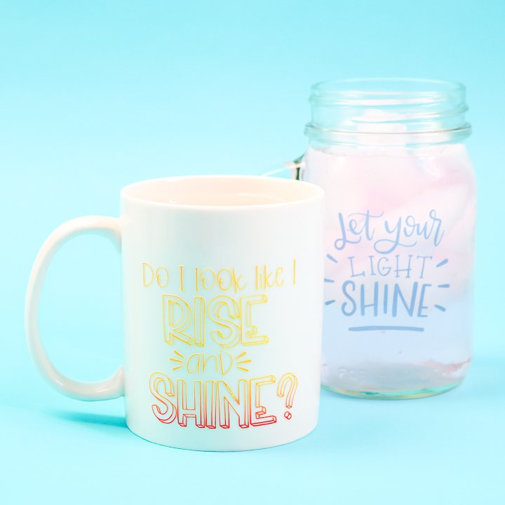 color changing vinyl on mugs