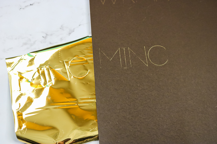 using minc foil with the cricut